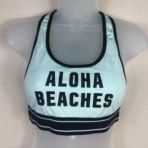 PINK/Aloha Beaches sports bra